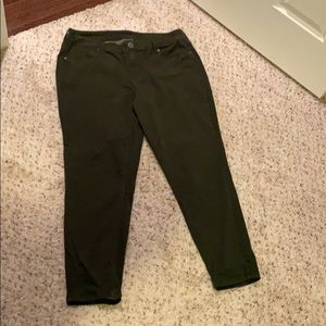 army green jeggings!